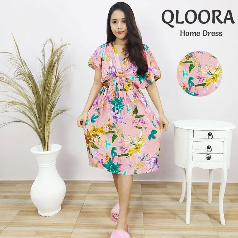 Daster Remaja Lengan Pendek Model Qloora