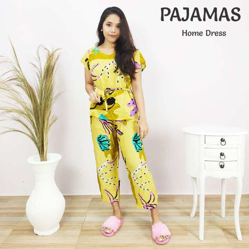 Baju Piyama Wanita Dewasa Motif Kaktus