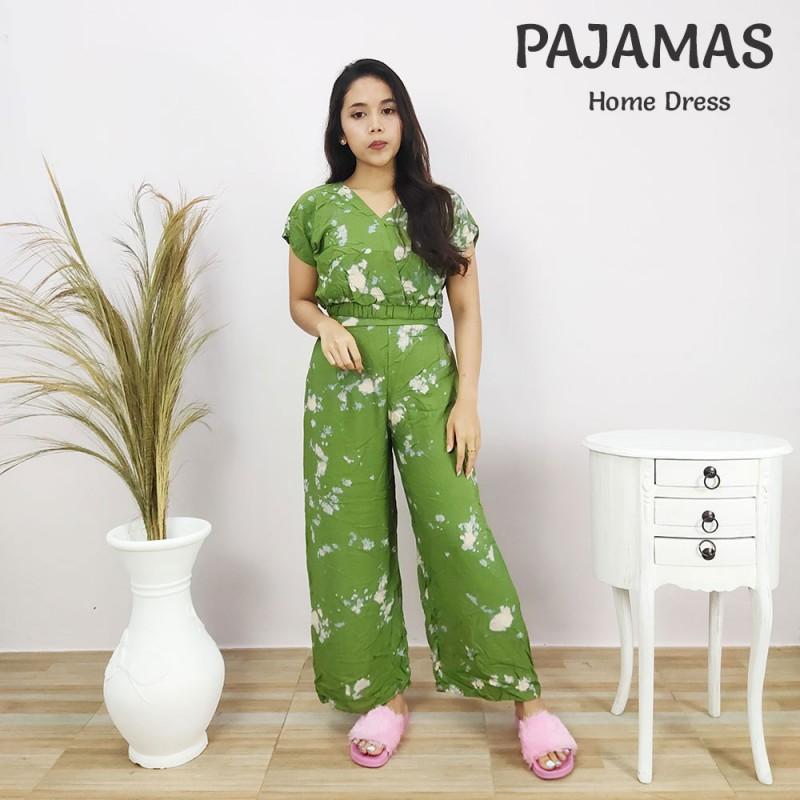 Setelan Baju Dan Celana Motif Tie Dye Bali