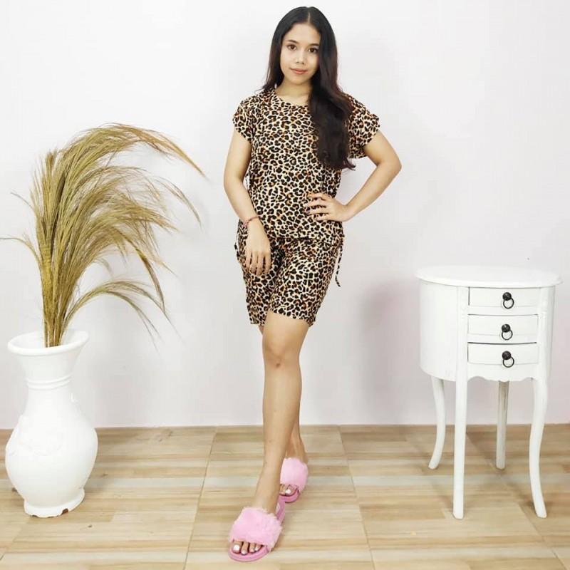 Baju Pajamas Leopard