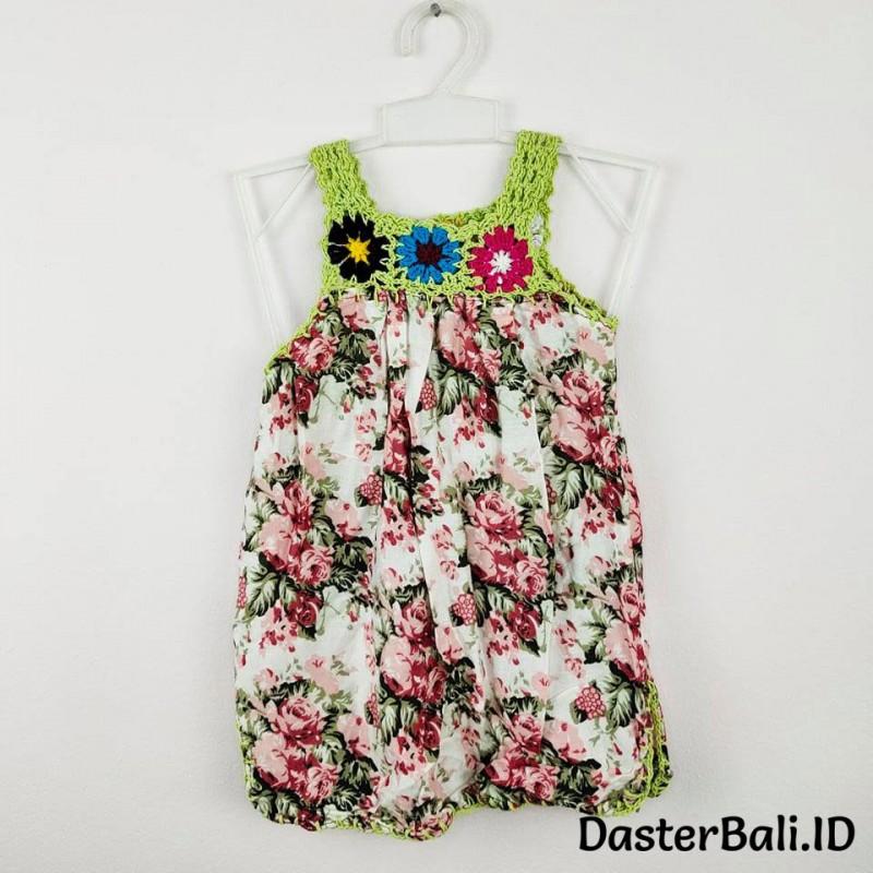 Baju Rajut Anak Perempuan Motif Bunga