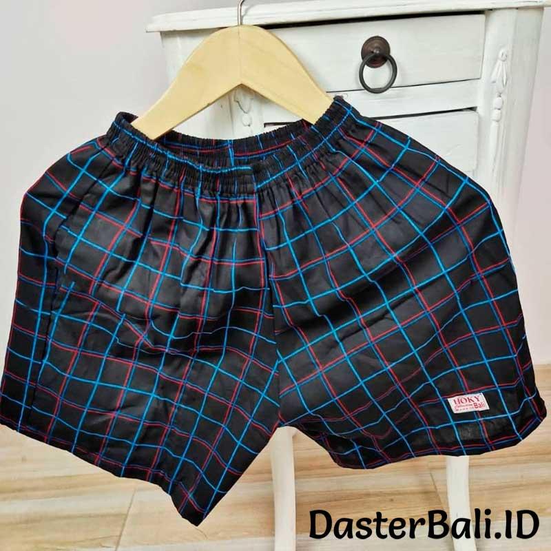 Celana Boxer Katun Unisex Motif Kotak