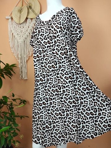 Daster Bali Model Payung Motif Leopard
