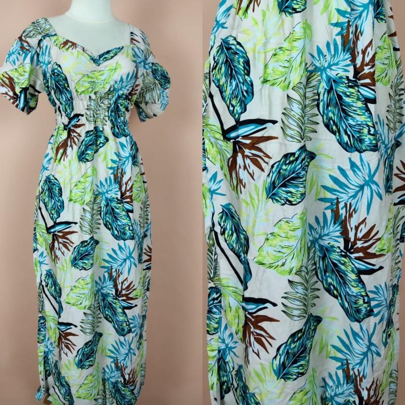 Daster Bali Model Zara Motif Daun Palem