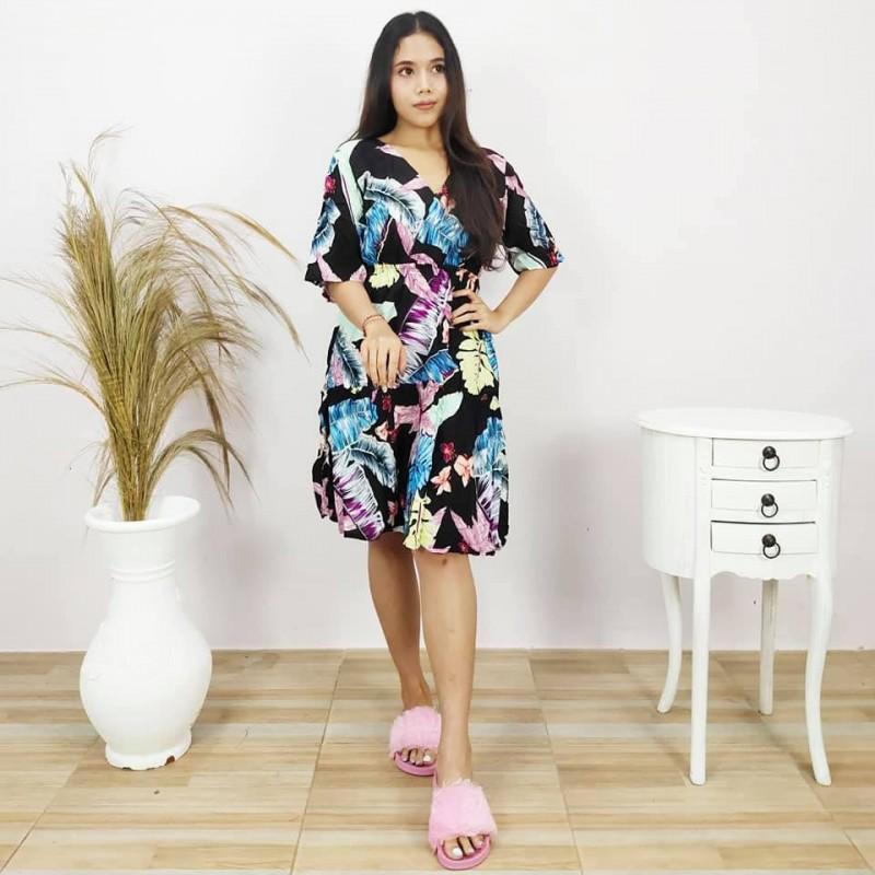 Daster Kekinian Lengan Pendek Model Nikita
