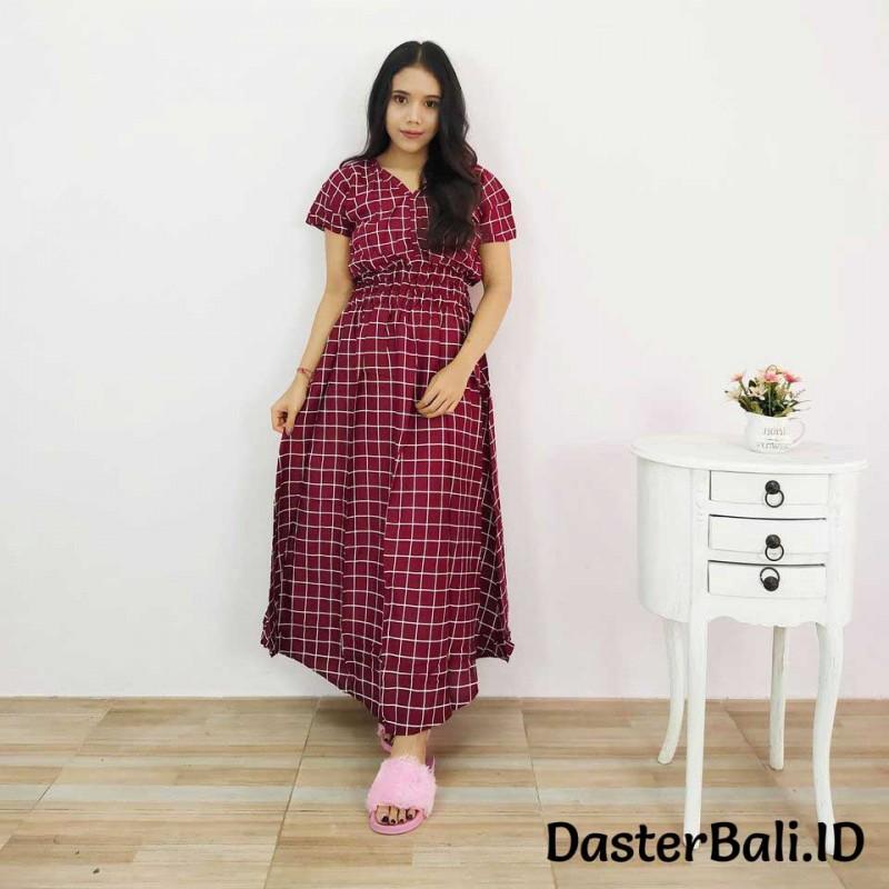 Daster Wanita Model Moza Motif Kotak