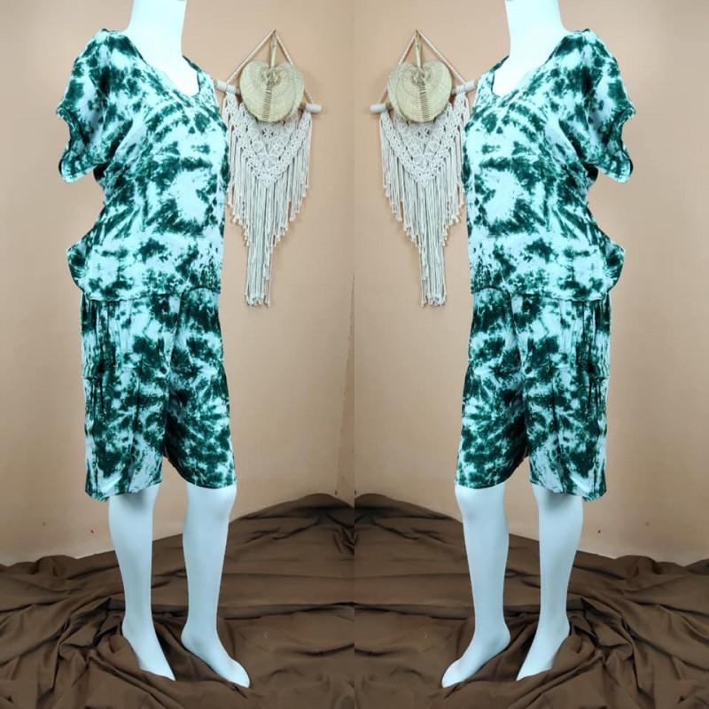 Pajamas Celana Pendek Motif Tie-Dye