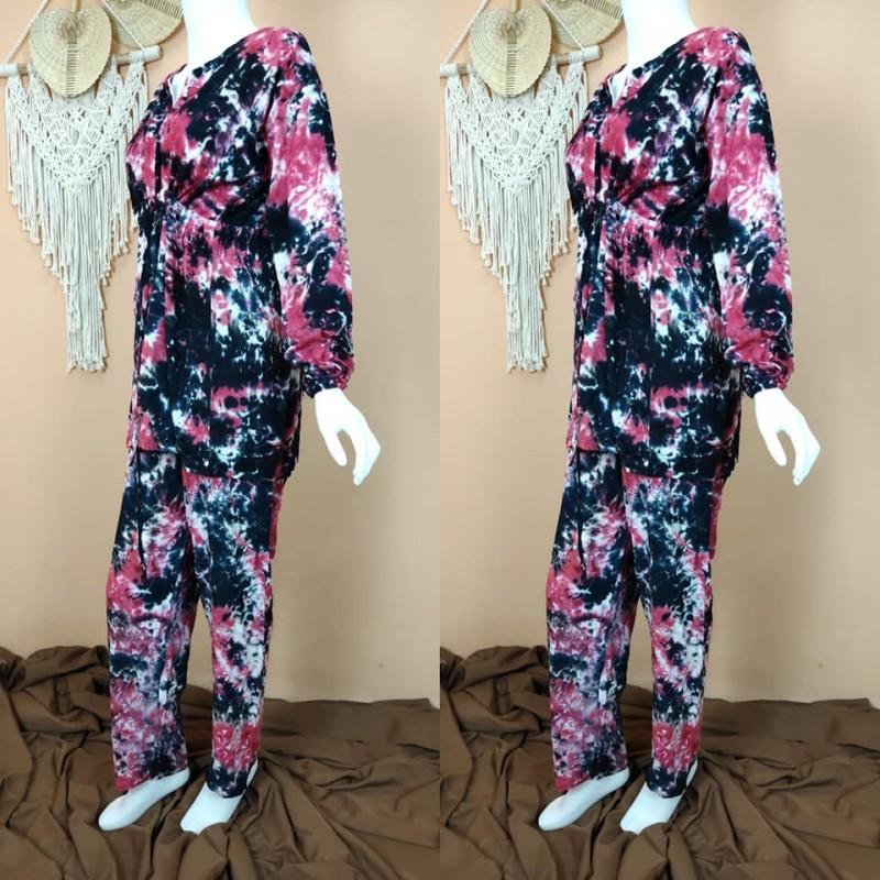 Pajamas Lengan Panjang Motif Terbaru