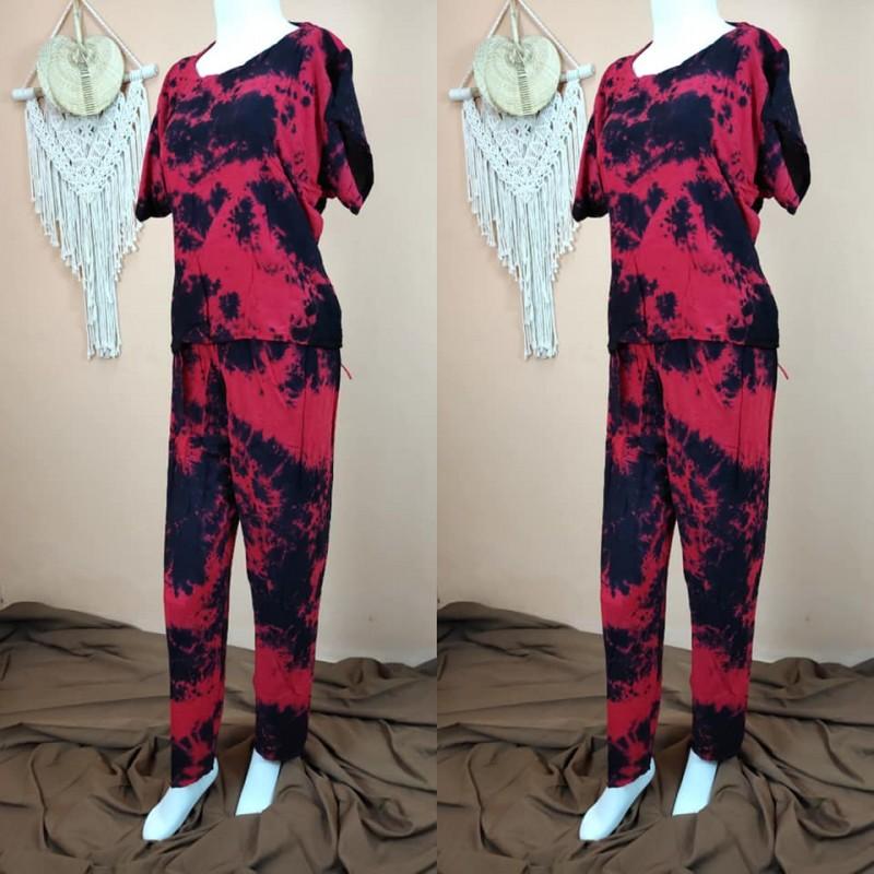Piyama Lengan Pendek Celana Panjang