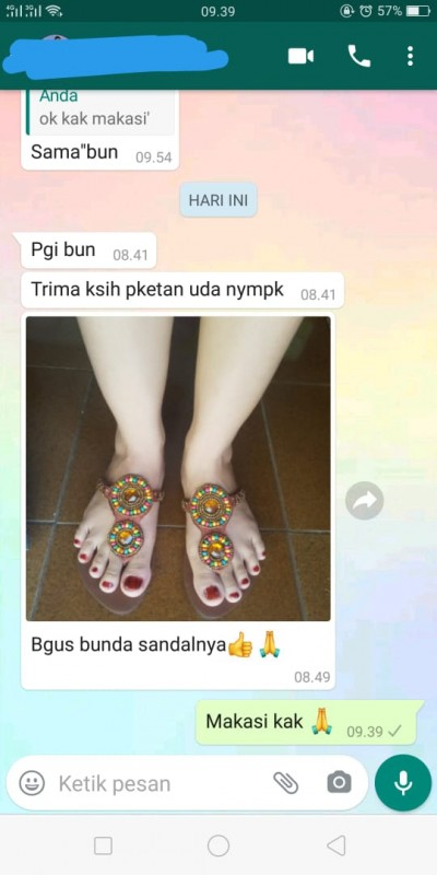 Testimoni sandal bali