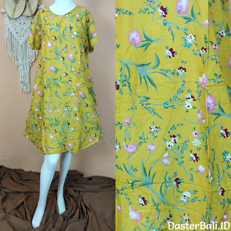 Bali Home Dresss with Floral Motive