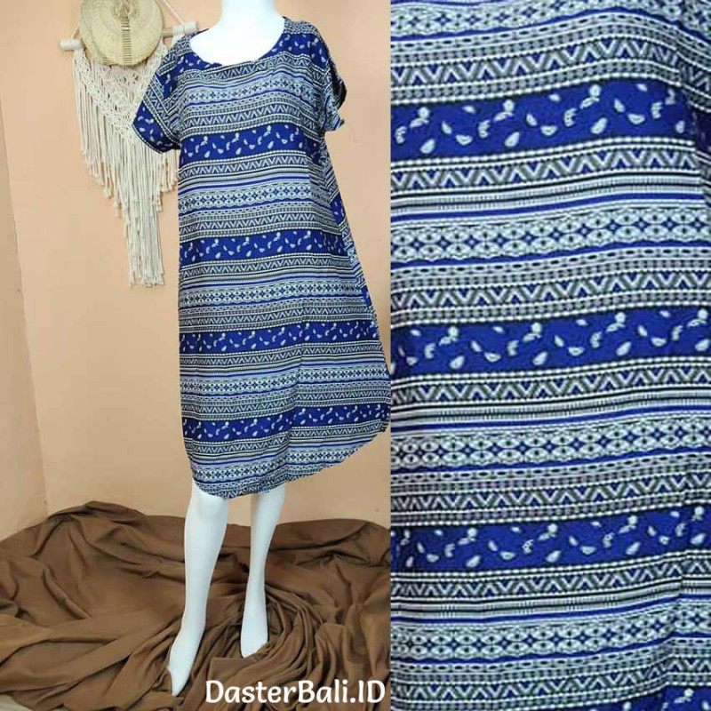 Duster Dress with Blue Ethnic
