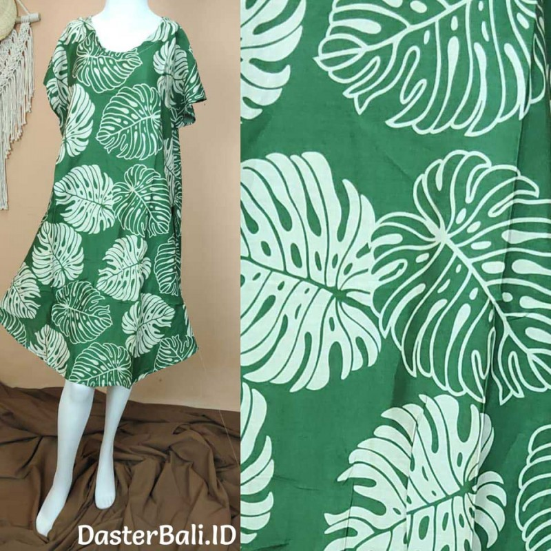 House Dress with Leaves Motifs