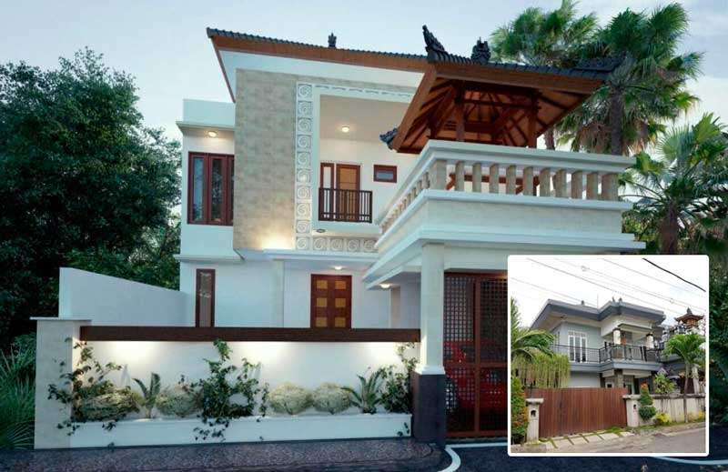 Rumah Bali Modern 2 Lantai